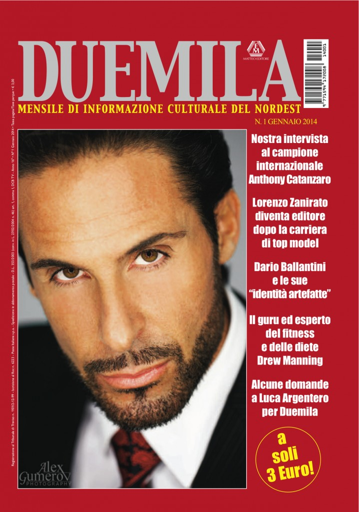 "Tony Lands the cover of Italian Magazine ""Duemila"""